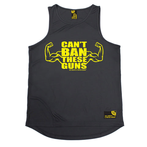 SWPS Can't Ban These Guns Sex Weights And Protein Shakes Gym Men's Training Vest