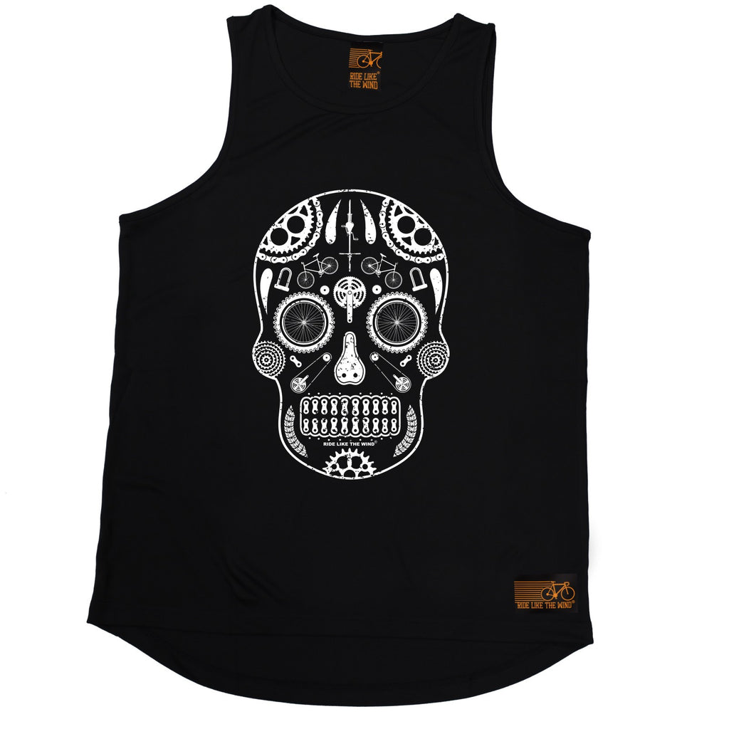 Ride Like The Wind Candy Skull Bike Cycling Men's Training Vest