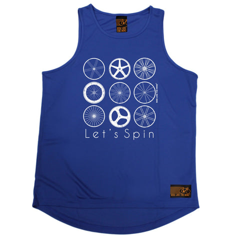 Ride Like The Wind Let's Spin Cycling Men's Training Vest