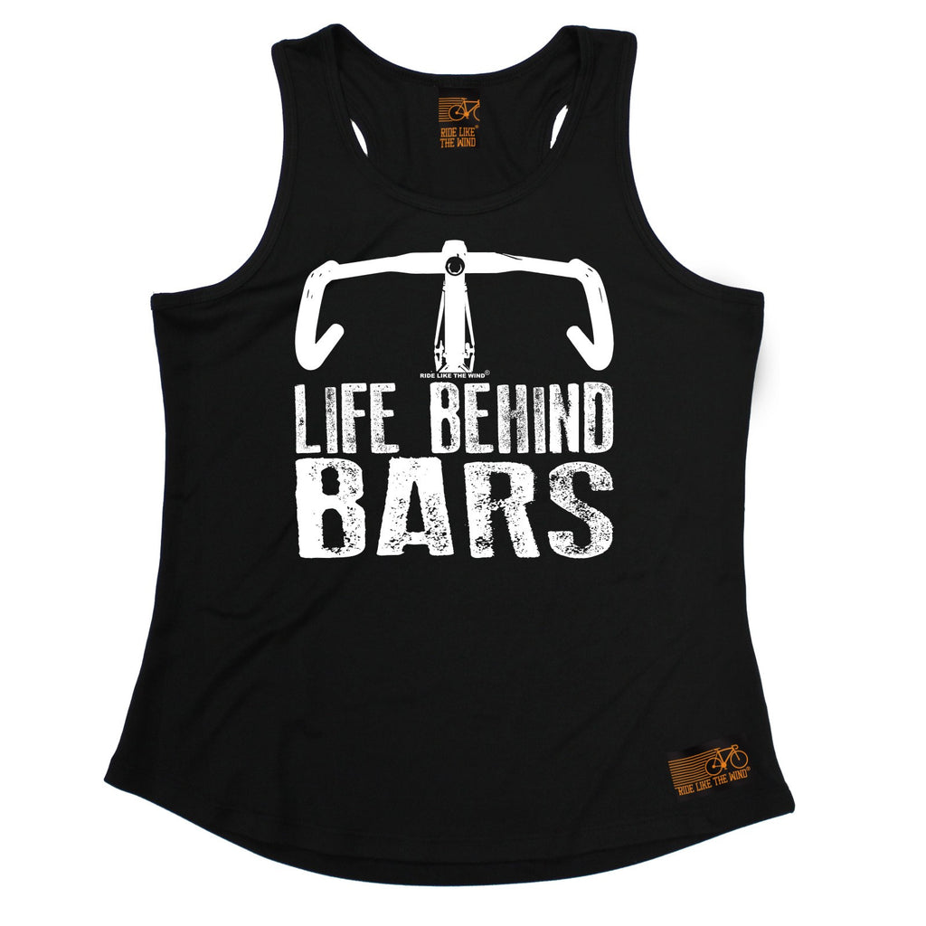 Ride Like The Wind Life Behind Bars Bicycle Racer Cycling Girlie Training Vest
