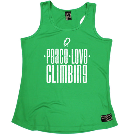 Adrenaline Addict Peace Love Climbing Rock Climbing Girlie Training Vest