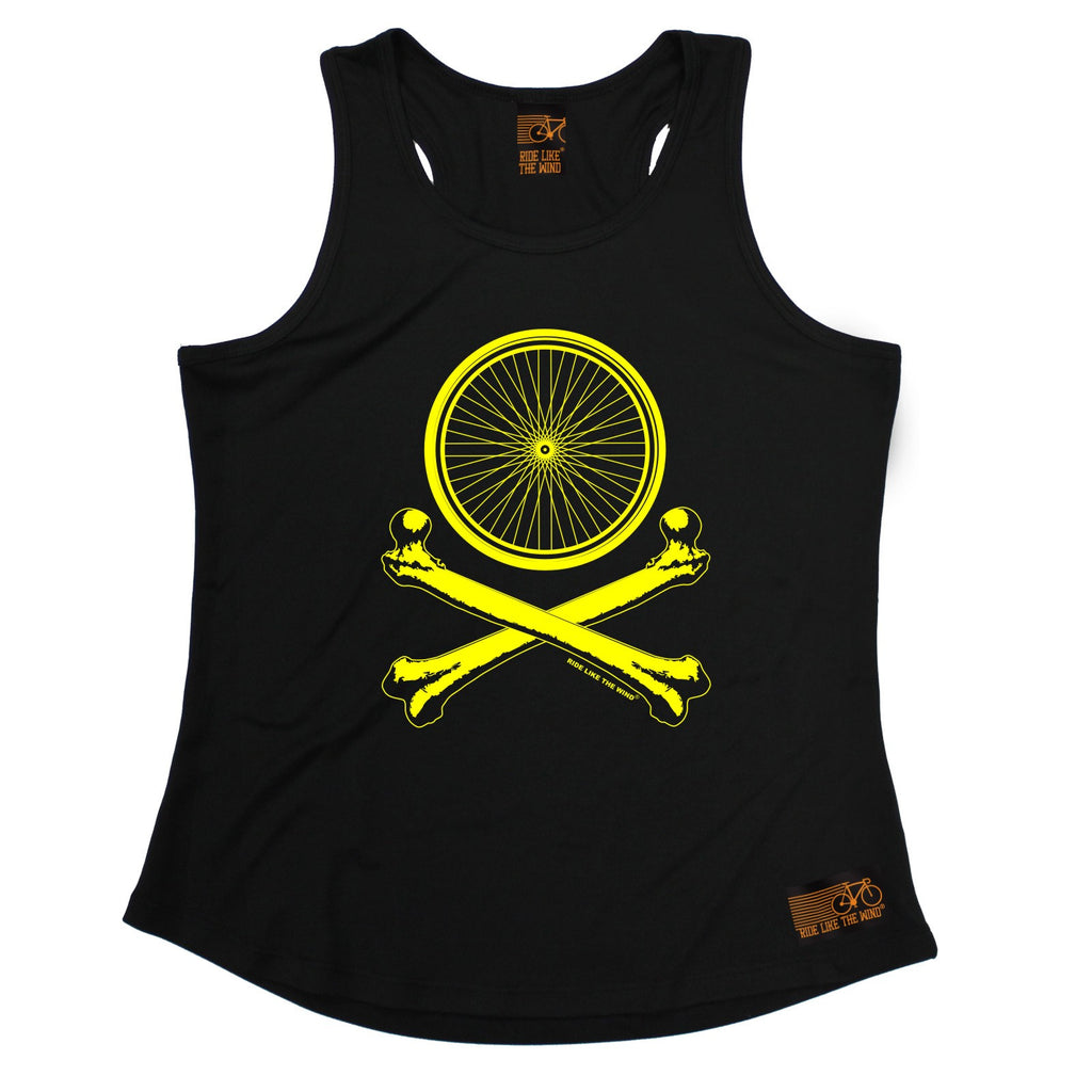 Ride Like The Wind Wheel Crossbones Cycling Girlie Training Vest