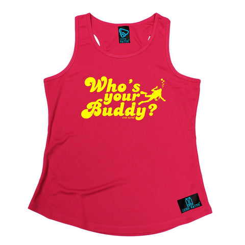 Open Water Who's Your Buddy Scuba Diving Girlie Training Vest