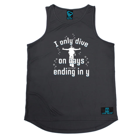 Open Water I Only Dive On Days Ending In Y Scuba Diving Men's Training Vest