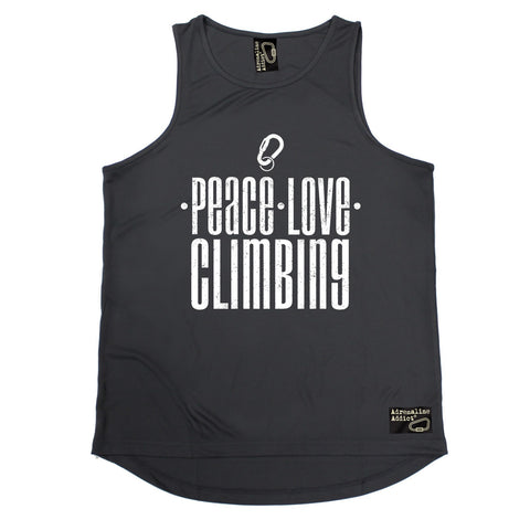 Adrenaline Addict Peace Love Climbing Rock Climbing Men's Training Vest