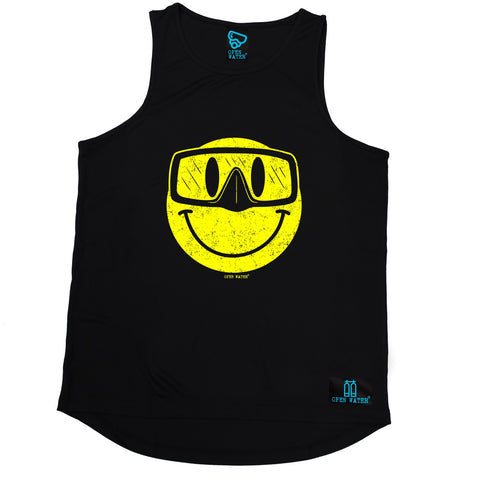 Open Water Smiley Goggles Design Scuba Diving Men's Training Vest