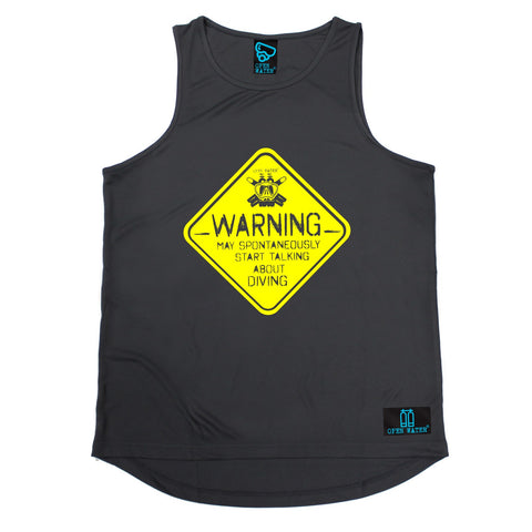 Open Water Warning May Spontaneously Start Talking About Scuba Diving Men's Training Vest