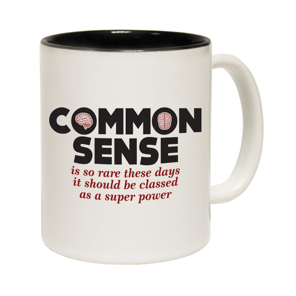 123T Funny Mugs - Common Sense - Coffee Cup