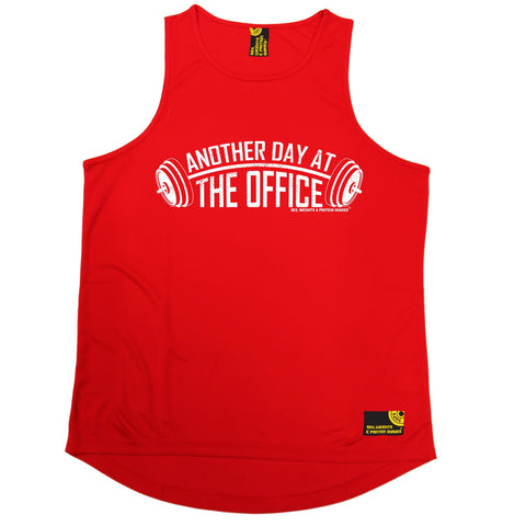 SWPS Another Day At The Office Sex Weights And Protein Shakes Gym Men's Training Vest