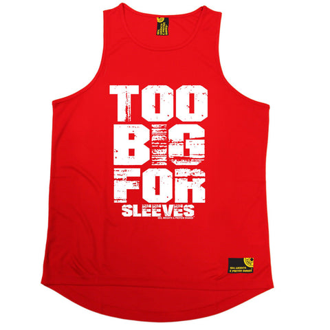 SWPS Too Big For Sleeves Sex Weights And Protein Shakes Gym Men's Training Vest