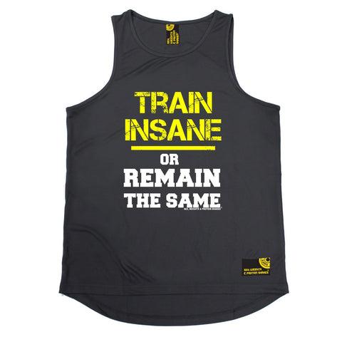 SWPS Train Insane or Remain The Same Sex Weights And Protein Shakes Gym Men's Training Vest
