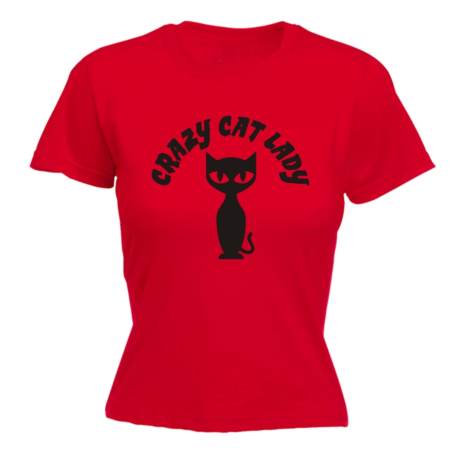 about crazy cat lady womens t shirt cat kitten cute birthday top funny