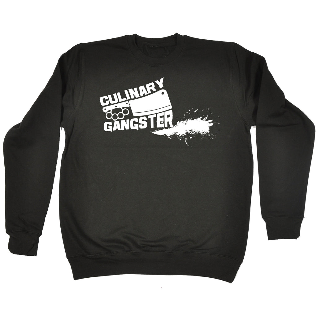 123t Culinary Gangster Meat Cleaver Design Funny Sweatshirt - 123t clothing gifts presents