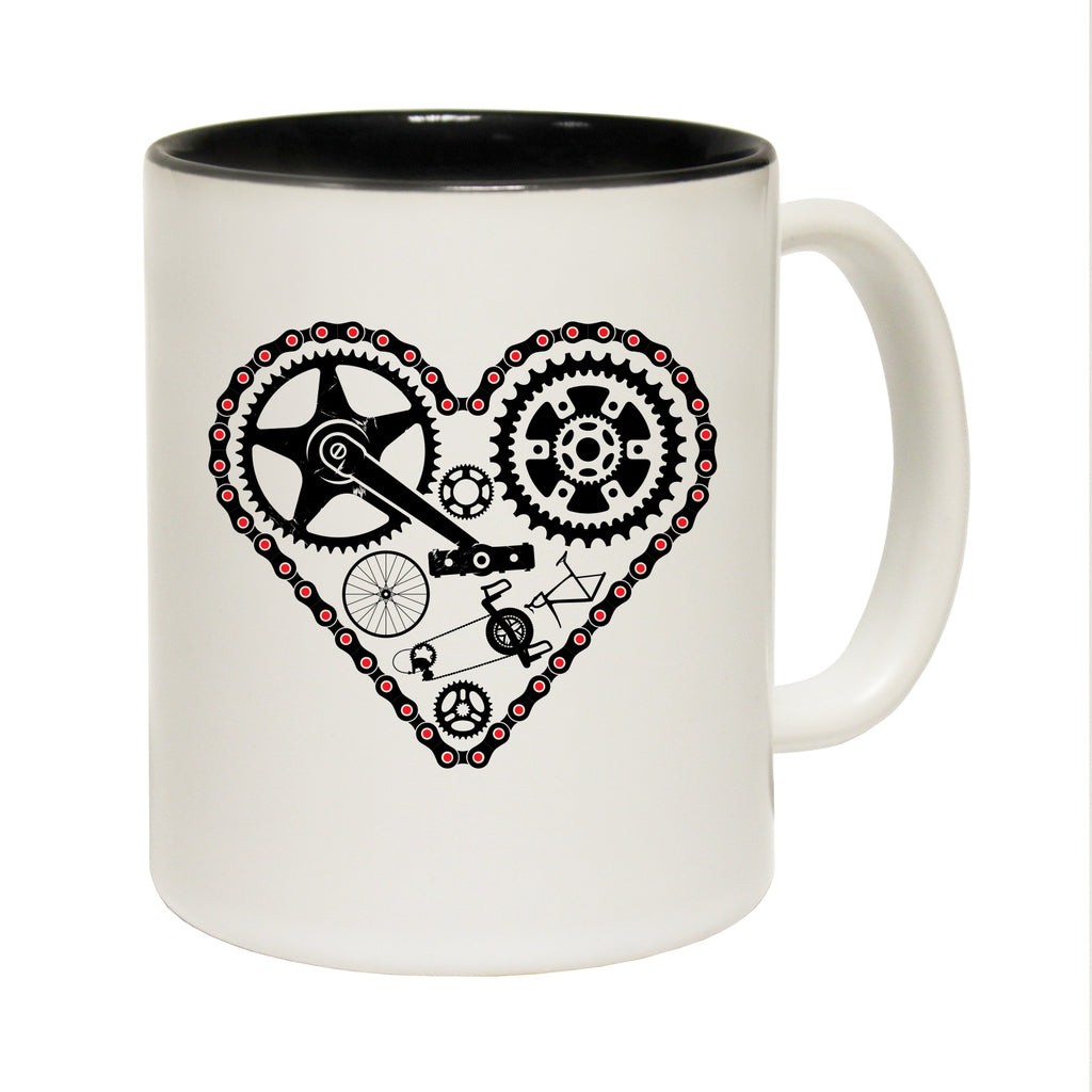 123T Funny Mugs - Cycling Heart - Coffee Cup