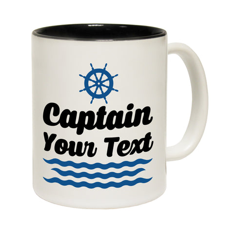 123t Captain Your Text Funny Mug
