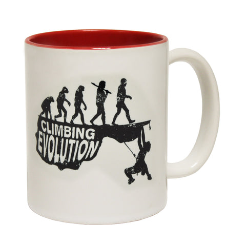 Adrenaline Addict Climbing Evolution Funny Mug