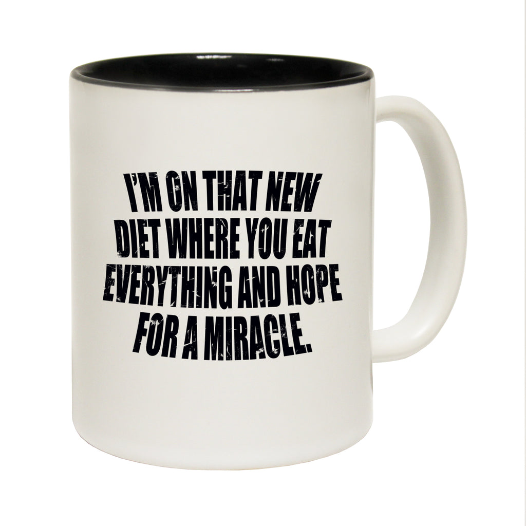 123T Funny Mugs - Diet Miracle - Coffee Cup
