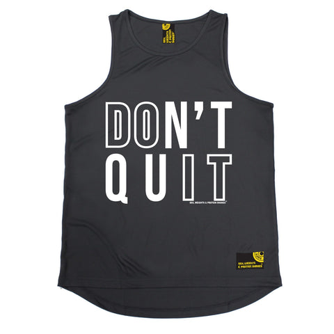 SWPS Don't Quit Sex Weights And Protein Shakes Gym Men's Training Vest