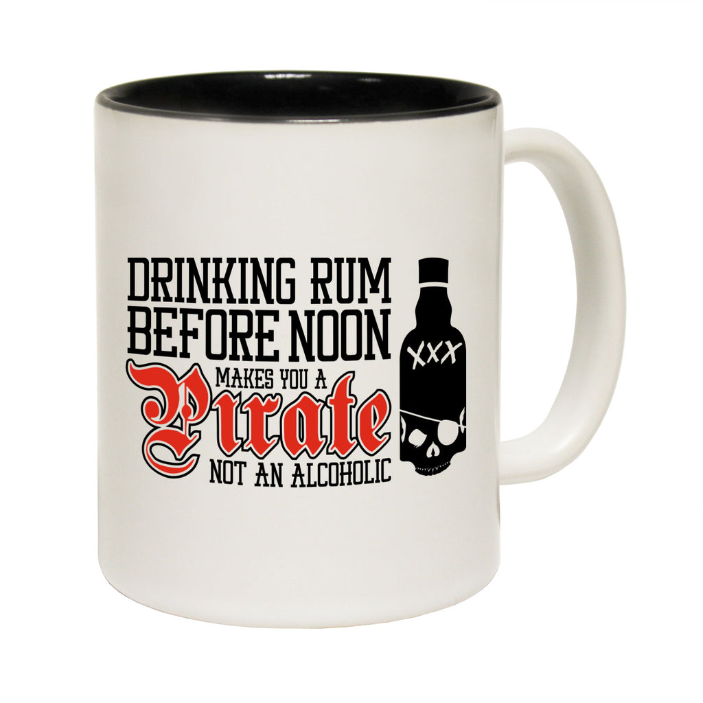123T Funny Mugs - Drinking Rum Before Noon - Coffee Cup