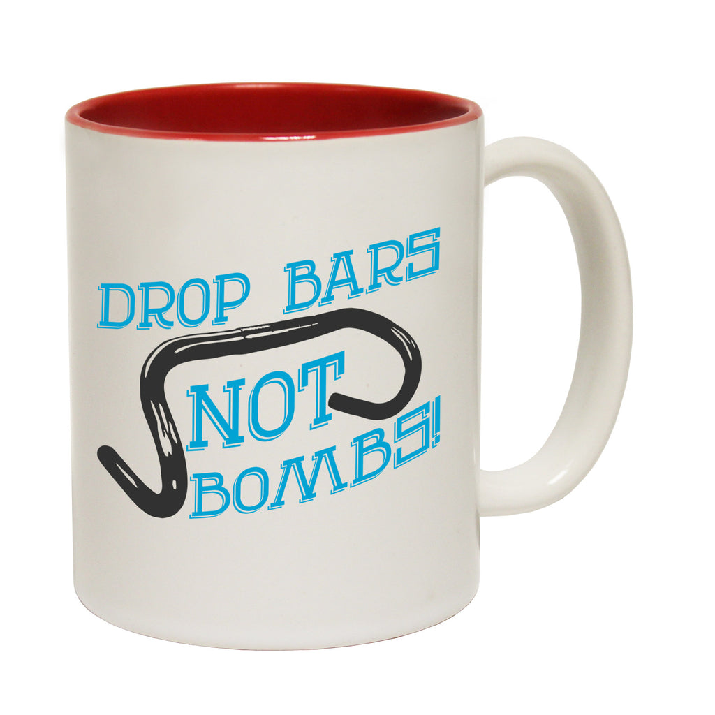 Ride Like The Wind Drop Bars Not Bombs Funny Cycling Mug