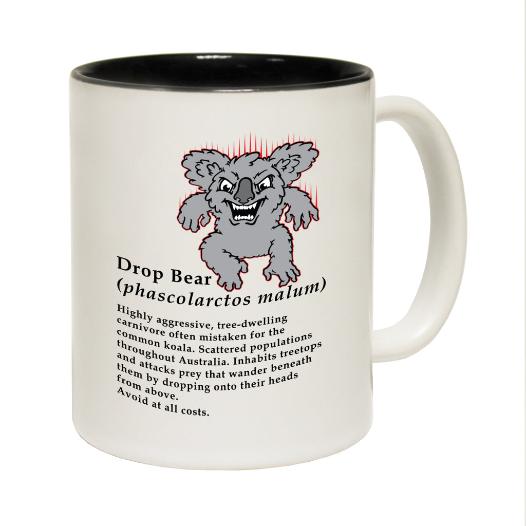 123T Funny Mugs - Drop Bear Explained Funny - Coffee Cup