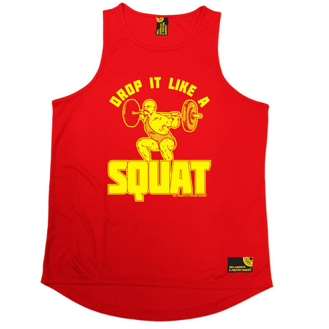 SWPS Drop It Like A Squat Sex Weights And Protein Shakes Gym Men's Training Vest