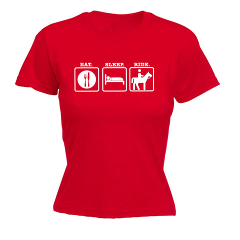 123t Women's Eat Sleep Ride Funny T-Shirt