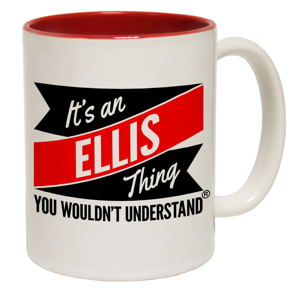 123t New It's An Ellis Thing You Wouldn't Understand Funny Mug, 123t Mugs