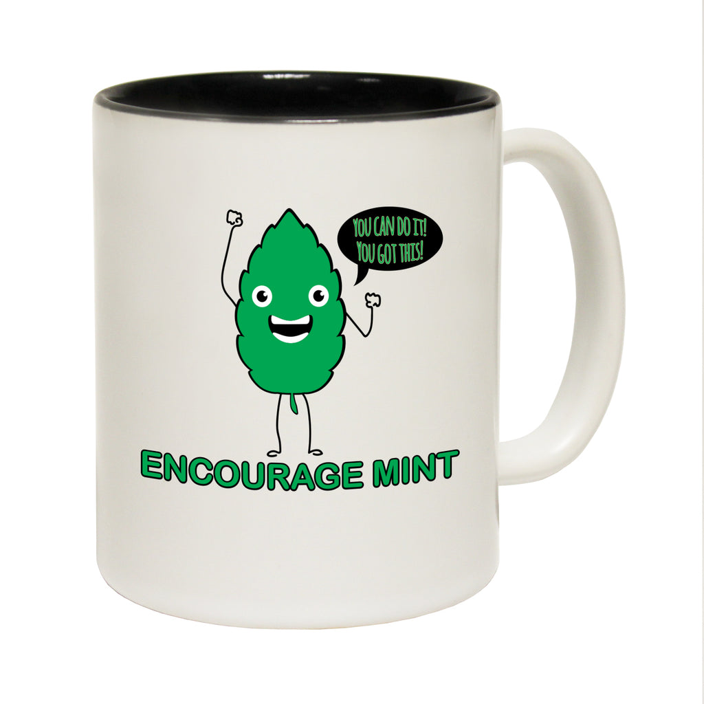 123T Funny Mugs - Encourage Mint - Coffee Cup