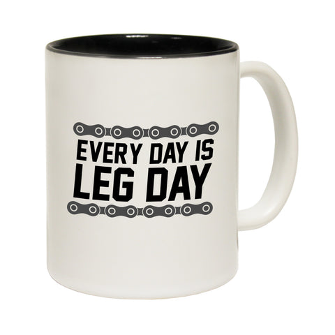 Ride Like The Wind Every Day Is A Leg Day Funny Cycling Mug