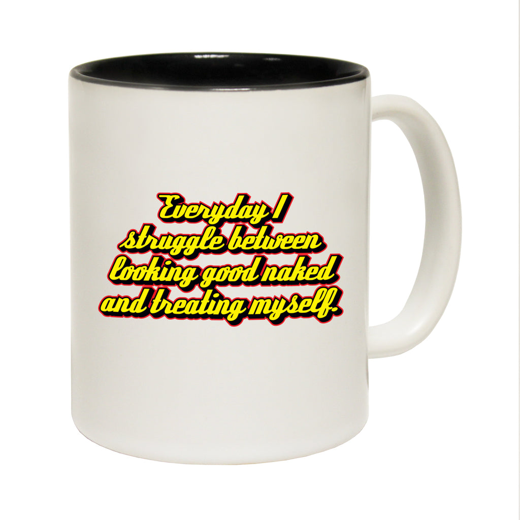 123T Funny Mugs - Everyday Struggle Naked - Coffee Cup