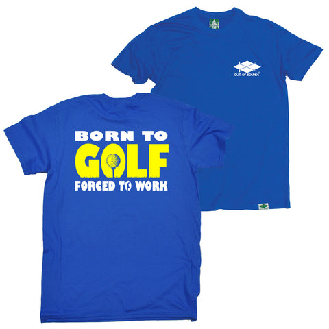 FB Out Of Bounds Golfing Tee - Born To Golf - Mens T-Shirt