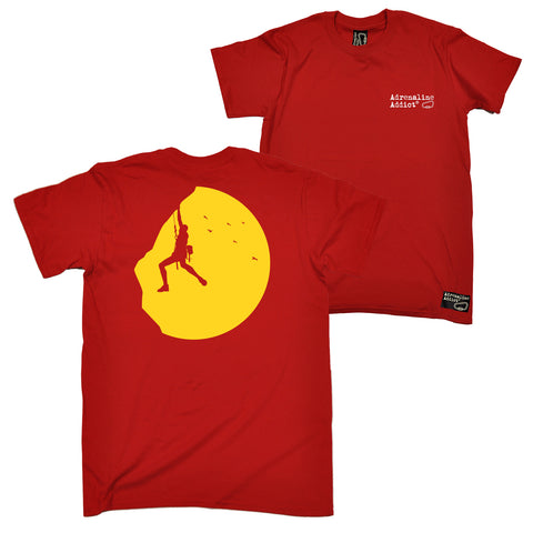 FB Adrenaline Addict Rock Climbing Tee - Sunset Climber - Mens T-Shirt