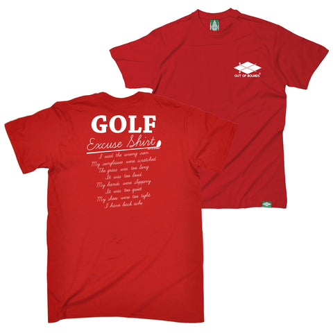 FB Out Of Bounds Golfing Tee - Golf Excuses - Mens T-Shirt
