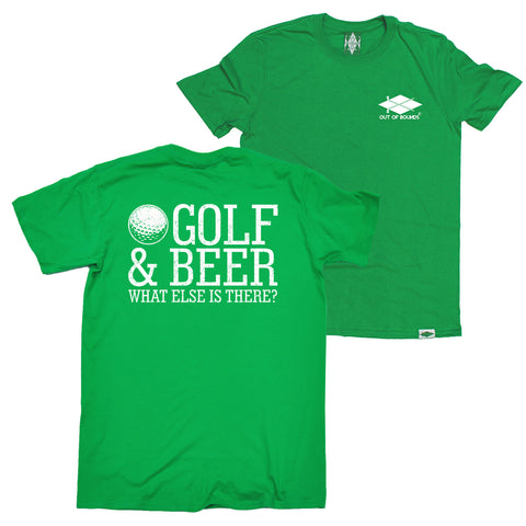 FB Out Of Bounds Golfing Tee - Golf And Beer - Mens T-Shirt
