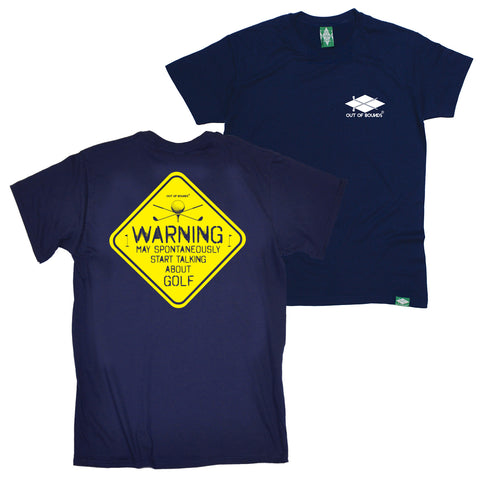 FB Out Of Bounds Golfing Tee - Warning - Mens T-Shirt