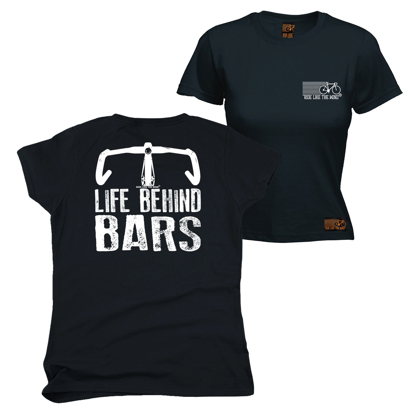 257a087cb FB Ride Like The Wind Cycling Tee - Bike Life Behind Bars - Womens Fitted  Cotton T-Shirt Top T Shirt