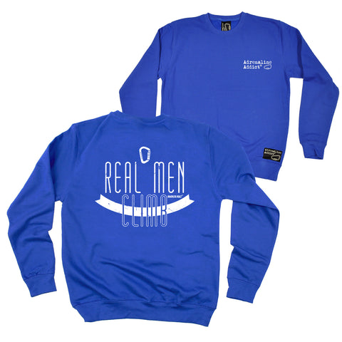 FB Adrenaline Addict Rock Climbing Sweatshirt - Real Men Climb - Sweater Jumper