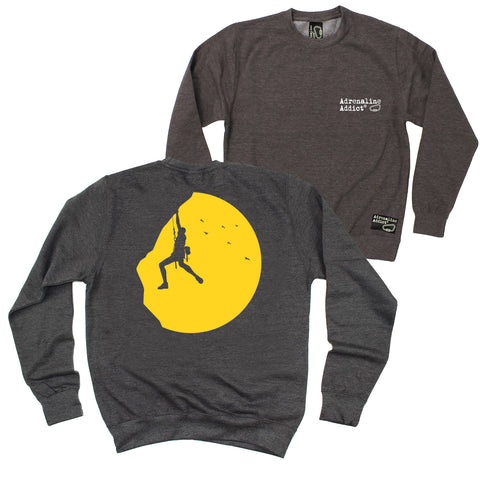 FB Adrenaline Addict Rock Climbing Sweatshirt - Sunset Climber - Sweater Jumper