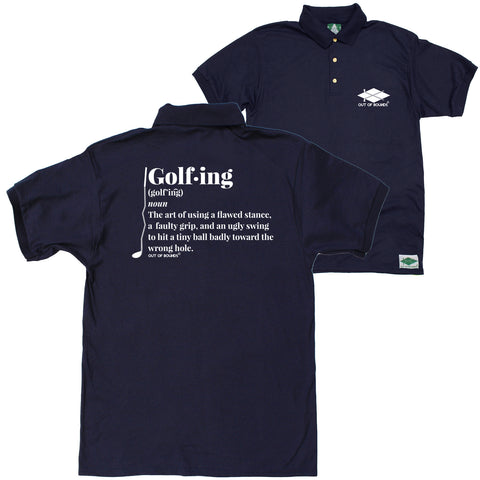 FB Out Of Bounds Funny Polo Shirt - Golf Noun - Polo T-Shirt