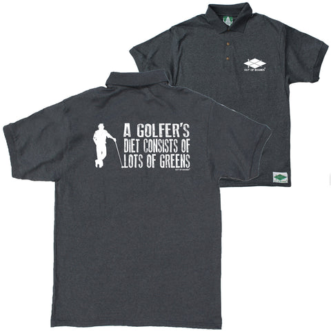 FB Out Of Bounds Funny Polo Shirt - Golfers Diet - Polo T-Shirt