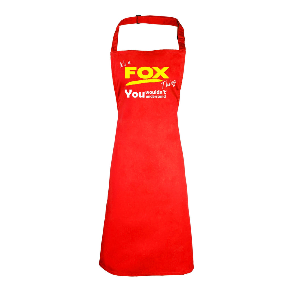 123t Kids It's A Fox Thing You Wouldn't Understand Cooking Playtime Apron