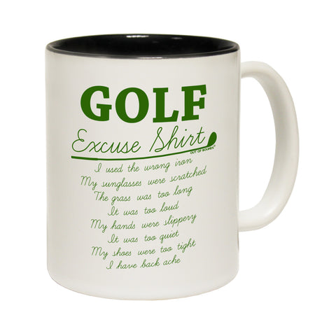 Out Of Bounds Golf Excuses Funny Mug