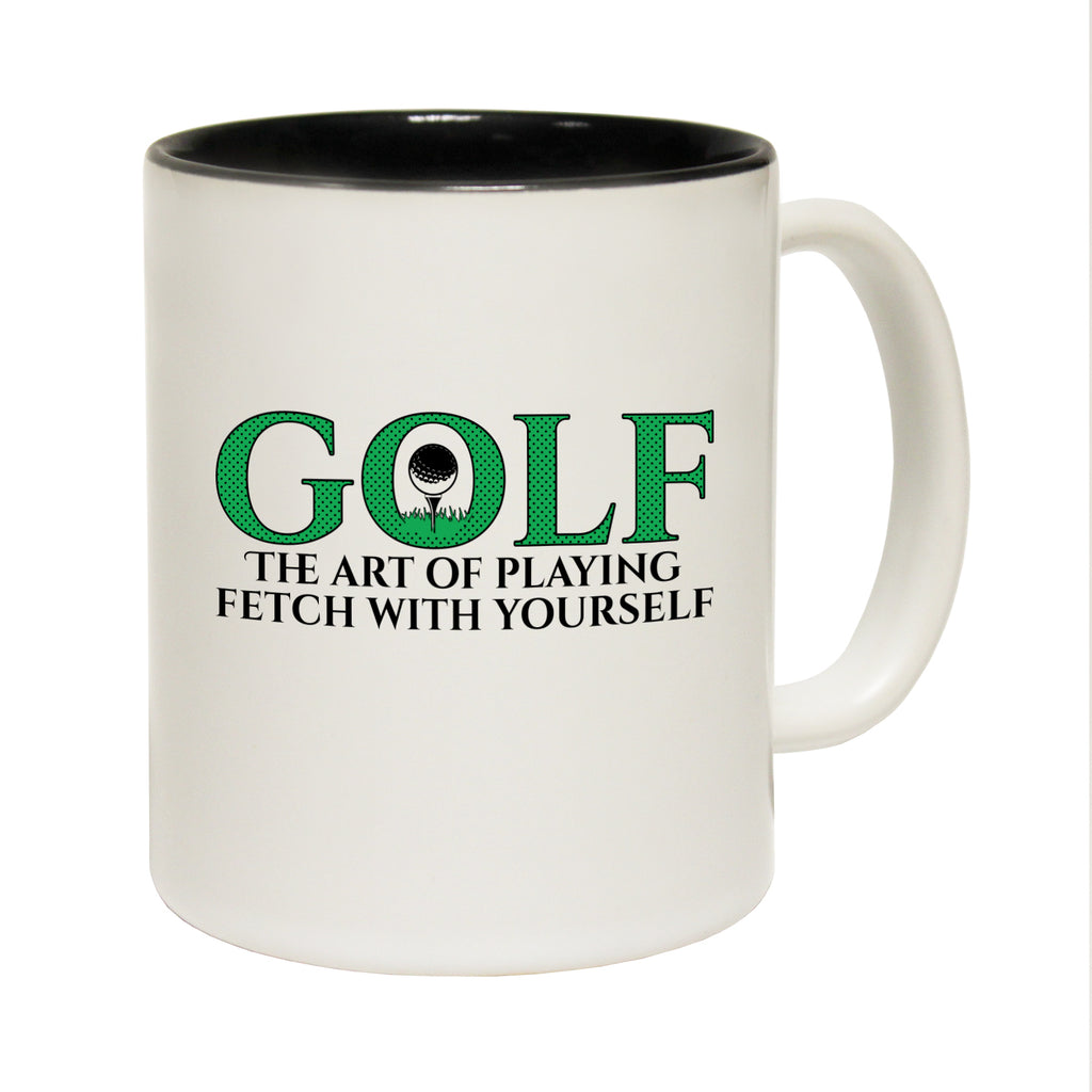 123T Funny Mugs - Golf The Art Of Playing Fetch - Coffee Cup