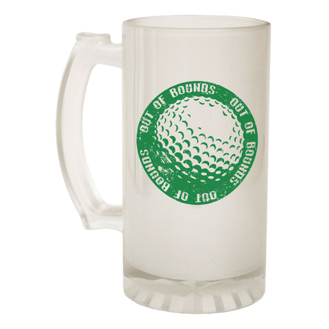 123t Frosted Glass Beer Stein - Golf Ball Golfing Golfer - Funny Novelty Birthday