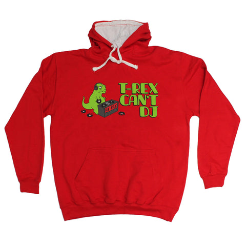 123t T-Rex Can't DJ Funny Hoodie