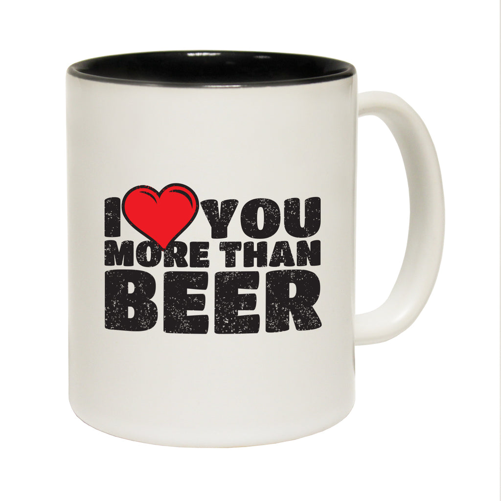 123T Funny Mugs - Heart More Than Beer - Coffee Cup
