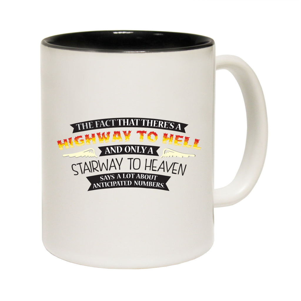123T Funny Mugs - Highway To Hell Stairway To Heaven - Coffee Cup