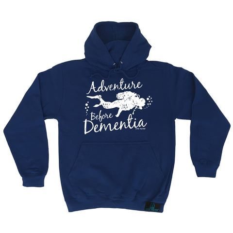 Open Water Adventure Before Dementia Scuba Diving Hoodie