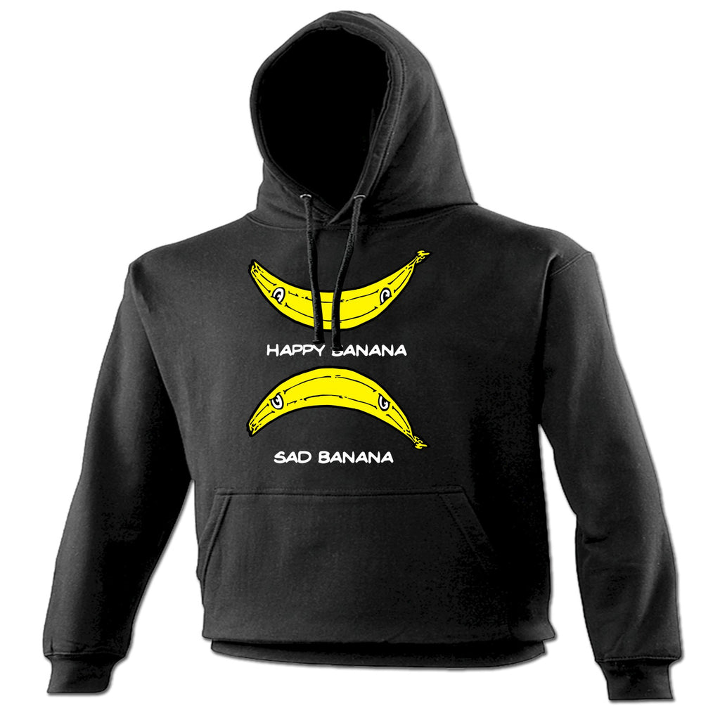 123t Happy Banana Sad Banana Smiley Sad Face Design Funny Hoodie